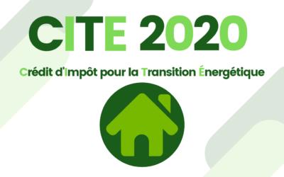 Crédit d'Impôt pour la TransitionÉnergétique 2020